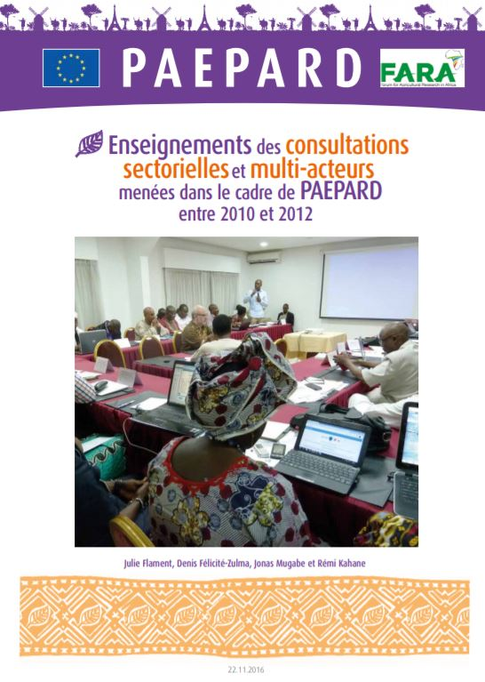 Findings from the sector and multi stakeholder consultations French