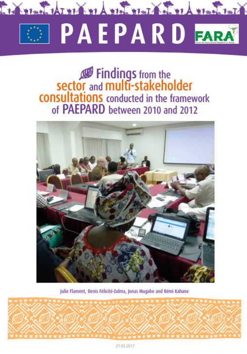 Findings from the  sector and multi-stakeholder consultations English