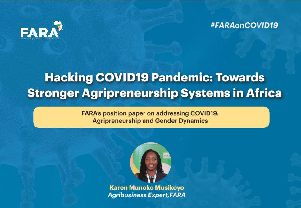 Hacking COVID19 Pandemic: Towards Stronger Agripreneurship Systems in Africa