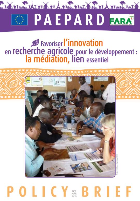 Facilitating innovation in agricultural research for development French
