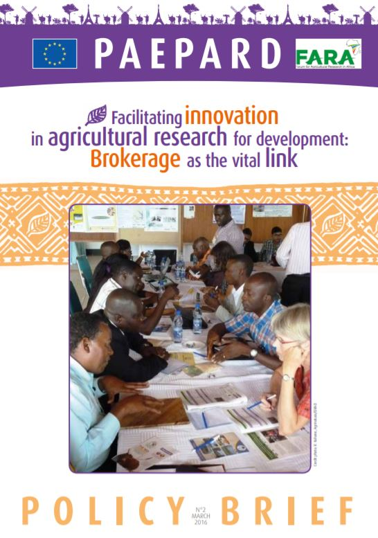 Facilitating innovation in agricultural research for development English