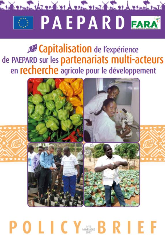 Capitalizing on PAEPARD experience on Multi stakeholder partnerships French
