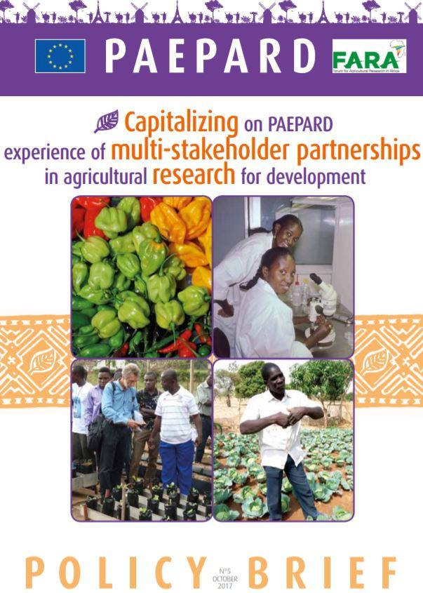 Capitalizing on PAEPARD  experience of multi-stakeholder partnerships English