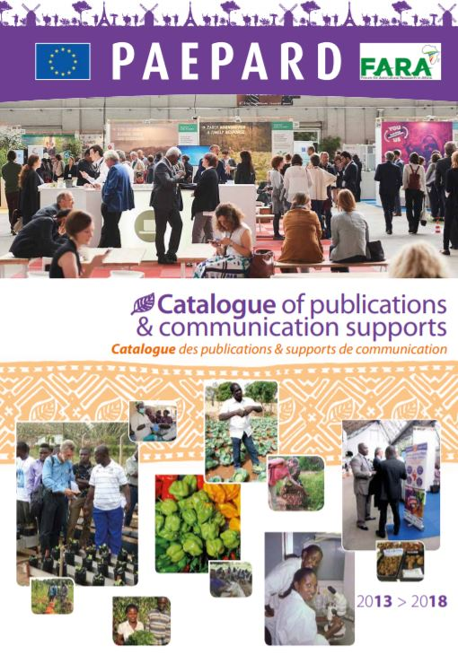 PAEPARD Catalogue of publications & communication supports