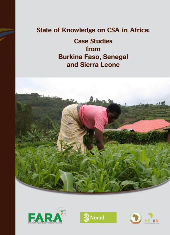 State of Knowledge on CSA in Africa: Case Studies from Burkina Faso, Senegal and Sierra Leone