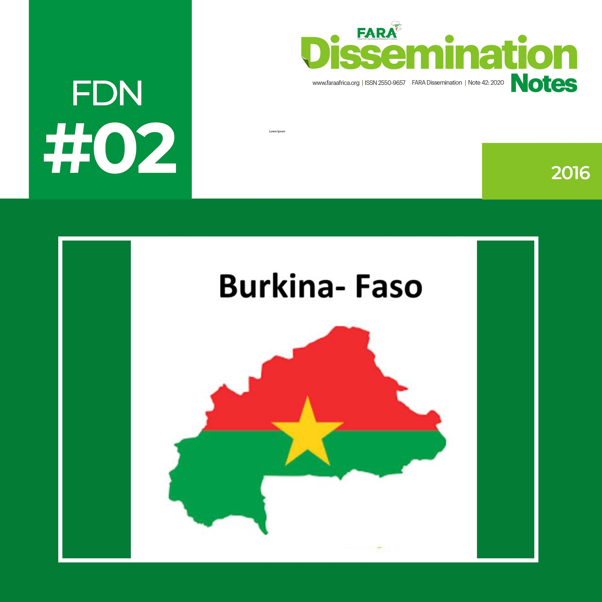 FDN 2 2016 Innovations Innovation Platforms and Innovation Investments in Burkina Faso