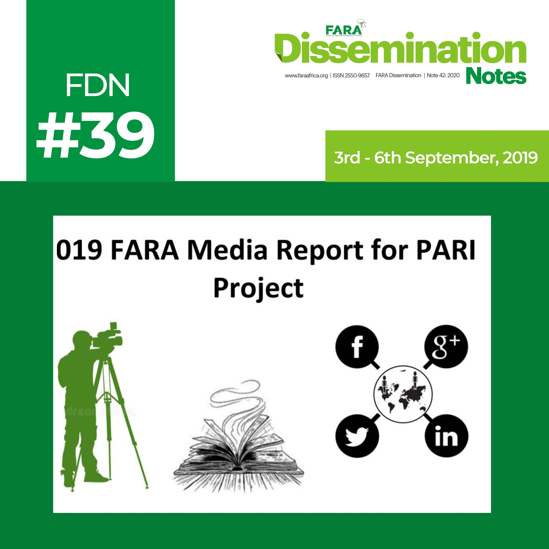 2019 FARA Media Report for PARI Project