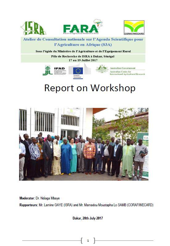 FINAL S3A Senegal  Consultative  Workshop   Report- ENGLISH